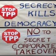 Protest against secrecy and the TPP