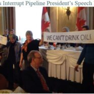 Ottawa Grans infiltrate Canadian Club lunch where President of Energy East Pipeline was speaking.